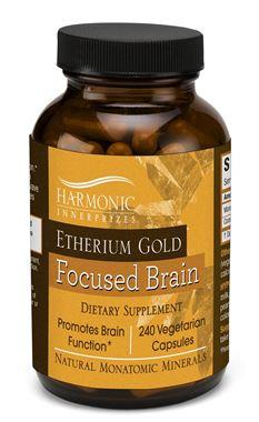 Picture of Harmonic Innerprizes Etherium Gold Focused Brain, 240 vcaps
