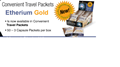 Picture of Harmonic Innerprizes Etherium Gold Focused Brain, 50 travel packets