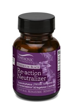 Picture of Harmonic Innerprizes Etherium Black Re-action Neutralizer, 60 vcaps
