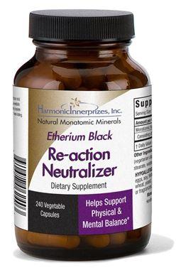 Picture of Harmonic Innerprizes Etherium Black Re-action Neutralizer, 240 vcaps