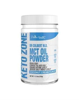Picture of Divine Health Keto Zone  MCT Oil Powder, Coconut Cream Flavor, 11.11 oz