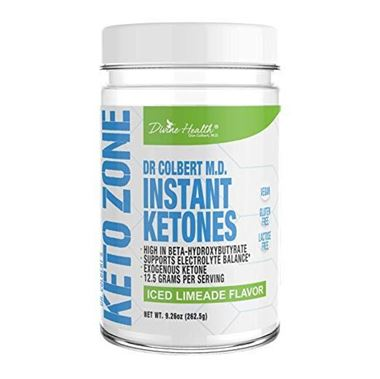 Picture of Divine Health Keto Zone  Instant Ketones, Iced Limeade Flavor, 9.26 oz