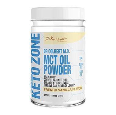 Picture of Divine Health Keto Zone  MCT Oil Powder, French Vanilla Flavor, 11.11 oz