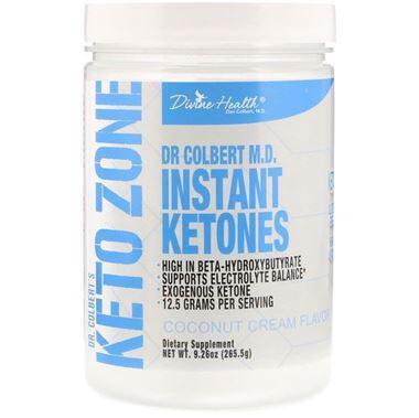 Picture of Divine Health Keto Zone Instant Ketones, Coconut Cream Flavor, 9.26 oz
