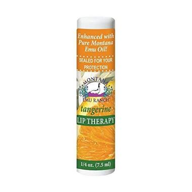 Picture of  Montana Emu Ranch Lip Therapy, Tangerine, 0.25 fl oz