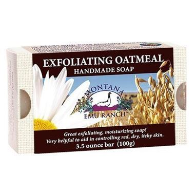 Picture of Montana Emu Ranch Handmade Soap, Exfoliating Oatmeal, 3.5 oz