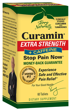 Picture of EuroPharma Terry Naturally Curamin Extra Strength + Caffeine, 60 tabs