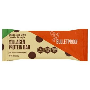 Picture of Bulletproof Chocolate Chip Cookie Dough Collagen Protein Bar, 1.58 oz