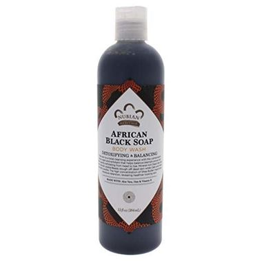 Picture of Nubian Heritage African Black Soap Body Wash, 13 oz