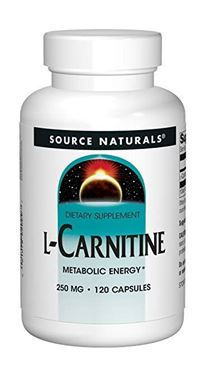 Picture of Source Naturals L-Carnitine, 250 mg, 120 caps