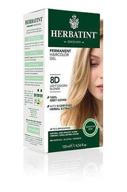 Picture of Herbatint Permanent Haircolor Gel, 8D Light Golden Blonde, 4.56 fl oz