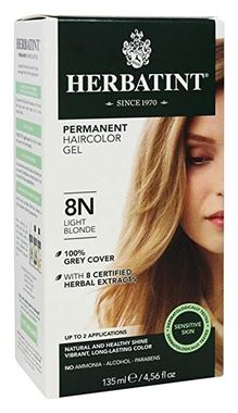 Picture of Herbatint Permanent Haircolor Gel, 8N Light Blonde, 4.56 fl oz