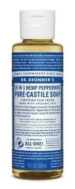 Picture of Dr. Bronner's Hemp Peppermint Pure-Castile Soap, 4 fl oz