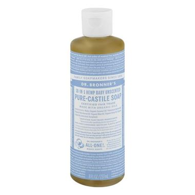 Picture of Dr. Bronner's Hemp Baby Unscented Pure-Castile Soap, 8 fl oz