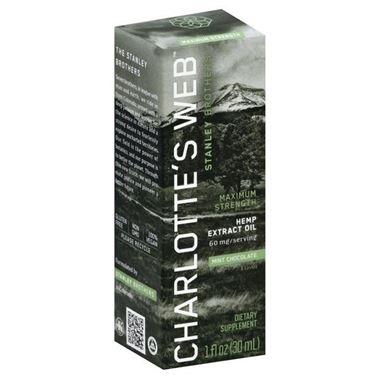 Picture of Charlotte's Web Maximum Strength Hemp Extract Oil, Mint Chocolate, 1 fl oz
