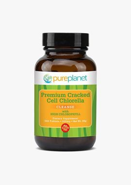 Picture of Pureplanet Premium Cracked Cell Chlorella, 200 mg, 300 tabs