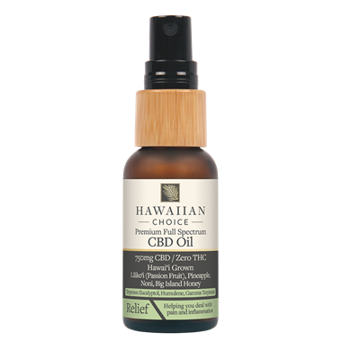 Picture of Hawaiian Choice CBD Oil Relief, 750 mg, 1 oz