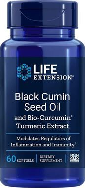 Picture of Life Extension Black Cumin Seed Oil with Bio-Curcumin, 60 softgels