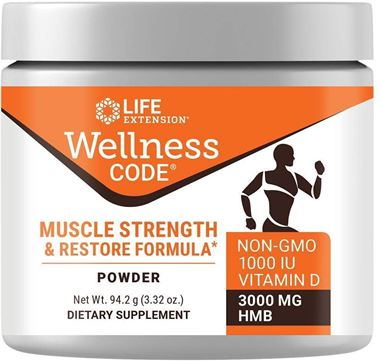 Picture of Life Extension Wellness Code Muscle Strength & Restore Formula, 3.32 oz powder