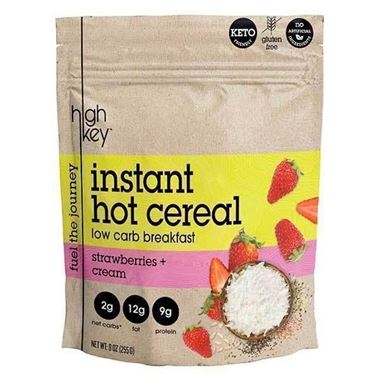 Picture of High Key Instant Hot Cereal, Strawberries + Cream, 9 oz