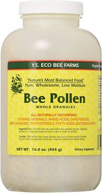 Picture of Y.S. Organics Low Moisture Bee Pollen, 16 oz granules