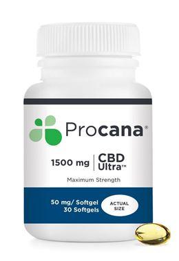 Picture of Procana CBD Ultra, 50 mg, 30 softgels
