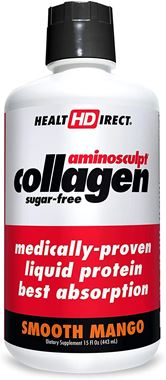 Picture of Health Direct AminoSculpt Collagen Sugar-Free, Smooth Mango, 15 fl oz