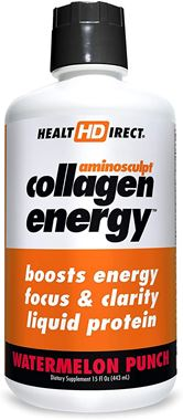 Picture of Health Direct AminoSculpt Collagen Energy, Watermelon Punch, 15 fl oz