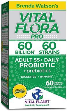Picture of Vital Planet Vital Flora Adult 55+ Daily Probiotic, 60 billion, 60 vcaps