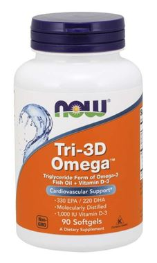 Picture of NOW Tri-3D Omega, 90 softgels