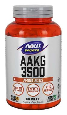 Picture of NOW Sports AAKG 3500, 180 tablets