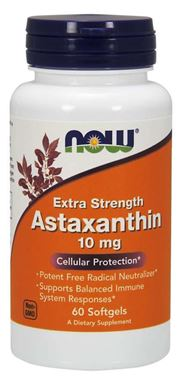 Picture of NOW Extra Strength Astaxanthin, 10 mg, 60 softgels
