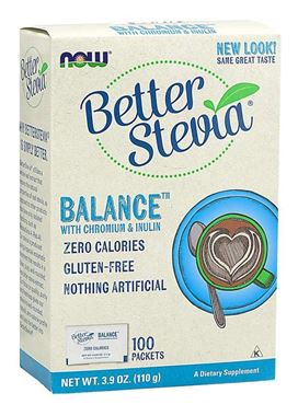 Picture of NOW Better Stevia Balance, 100 packets
