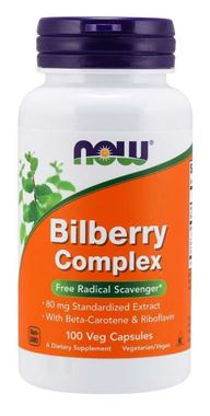 Picture of NOW Bilberry Complex,  80 mg, 100 vcaps