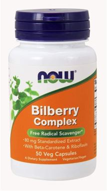 Picture of NOW Bilberry Complex, 80 mg, 50 vcaps