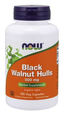 Picture of NOW Black Walnut Hulls, 500 mg, 100 vcaps