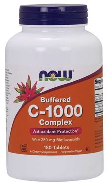 Picture of NOW Buffered C-1000 Complex, 180 tabs