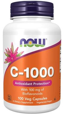 Picture of NOW C-1000 with Bioflavonoids, 100 vcaps