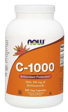 Picture of NOW C-1000 with Bioflavonoids, 500 vcaps