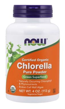 Picture of NOW Certified Organic Chlorella Pure Powder, 4 oz