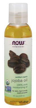 Picture of NOW Certified Organic Jojoba Oil, 4 fl oz
