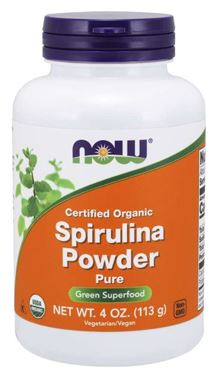 Picture of NOW Certified Organic Spirulina Powder, 4 oz