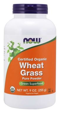 Picture of NOW Certified Organic Wheat Grass Pure Powder, 9 oz