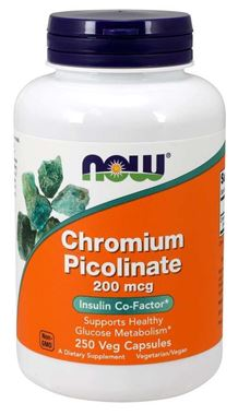 Picture of NOW Chromium Picolinate, 200 mcg,  250 vcaps