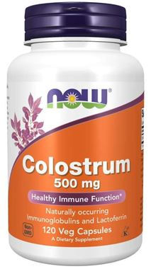 Picture of NOW Colostrum, 500 mg, 120 vcaps