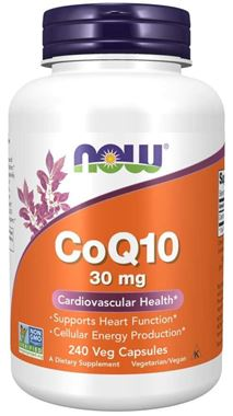 Picture of NOW CoQ10, 30 mg, 240 vcaps