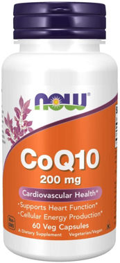 Picture of NOW CoQ10, 200 mg, 60 vcaps