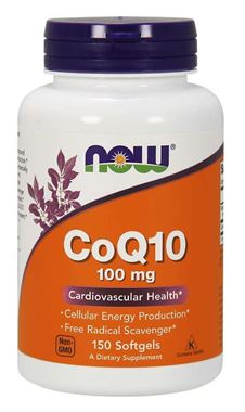 Picture of NOW CoQ10, 100 mg, 150 softgels