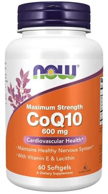 Picture of NOW Maximum Strength CoQ10, 600 mg, 60 softgels