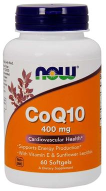 Picture of NOW CoQ10, 400 mg, 60 softgels